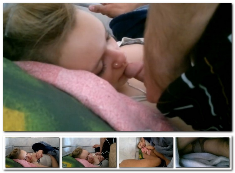 Порно спящей дали в рот