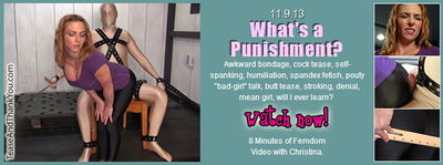 Tease And Thank you - What's a Punishment?