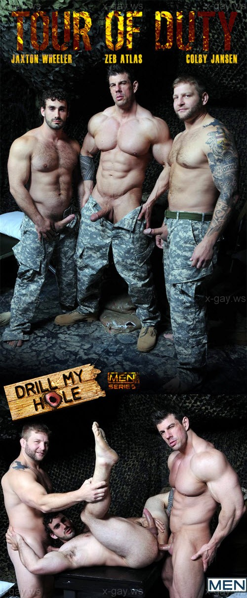 MEN – Drill My Hole – Tour Of Duty, Part 3: Colby Jansen, Jaxton Wheeler & Zeb Atlas