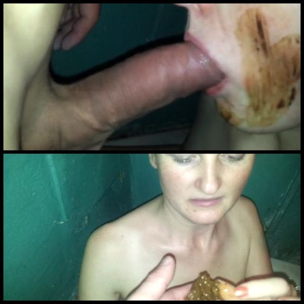 My toilet girl – amateur shit full mouth and swallow – Part 2