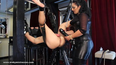 Kinky Mistresses - Mistress Ezada -The XXL Strap-on On The Swing
