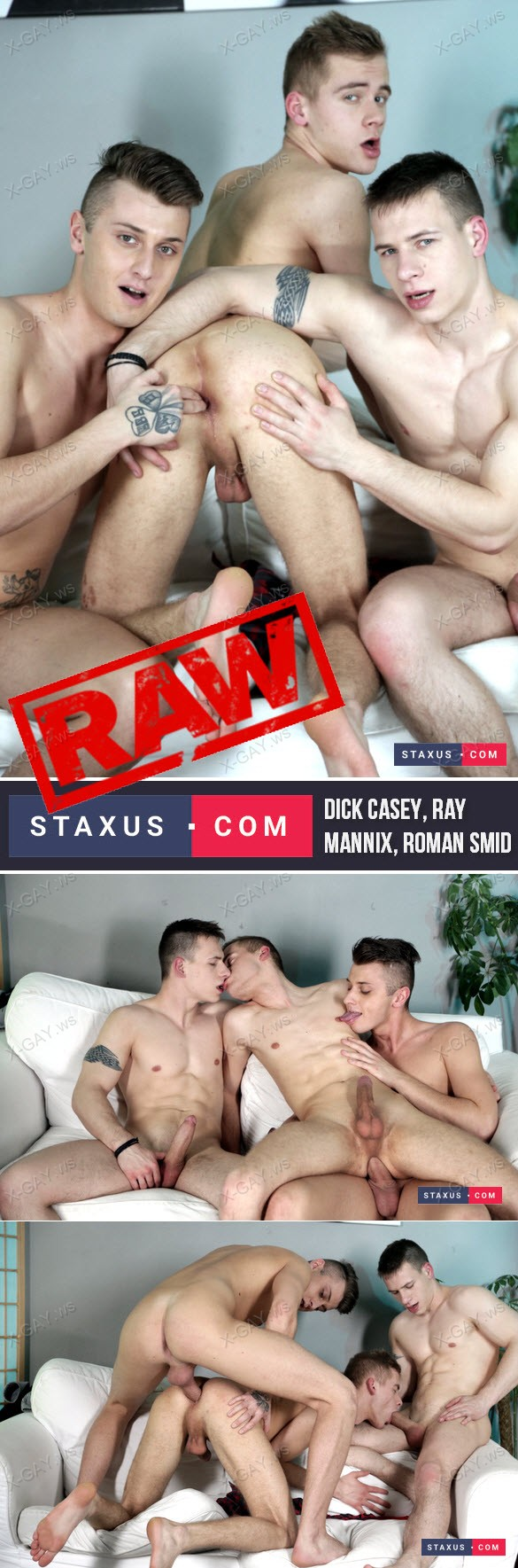 Staxus – Dick Casey, Ray Mannix & Roman Smid, Bareback