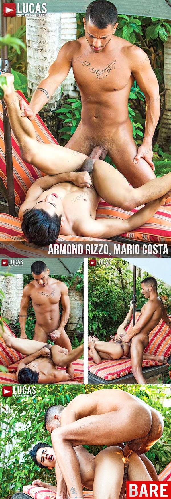 LucasEntertainment: Armond Rizzo Bottoms For Mario Costa's Raw Uncut Latin Cock