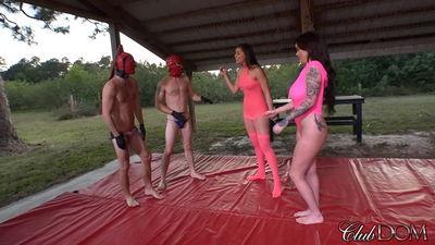 Clubdom - Rilynn & Roxi Wrestling Humiliation
