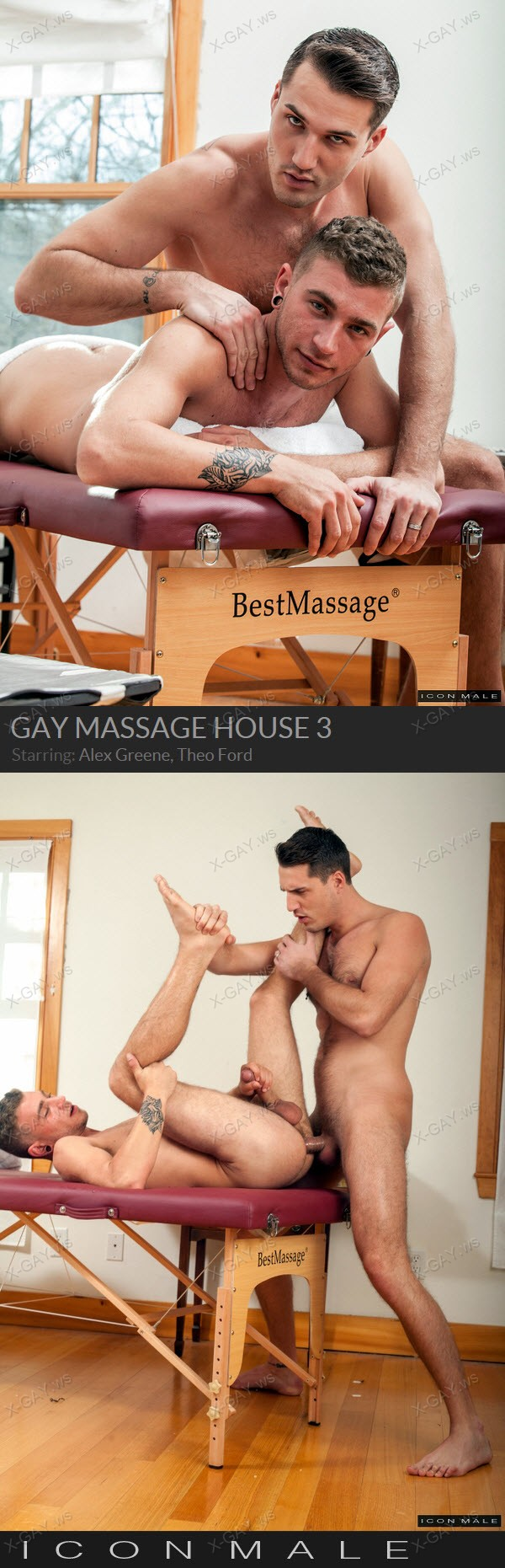 IconMale: Gay Massage House 3, Scene #3 (Alex Greene, Theo Ford)