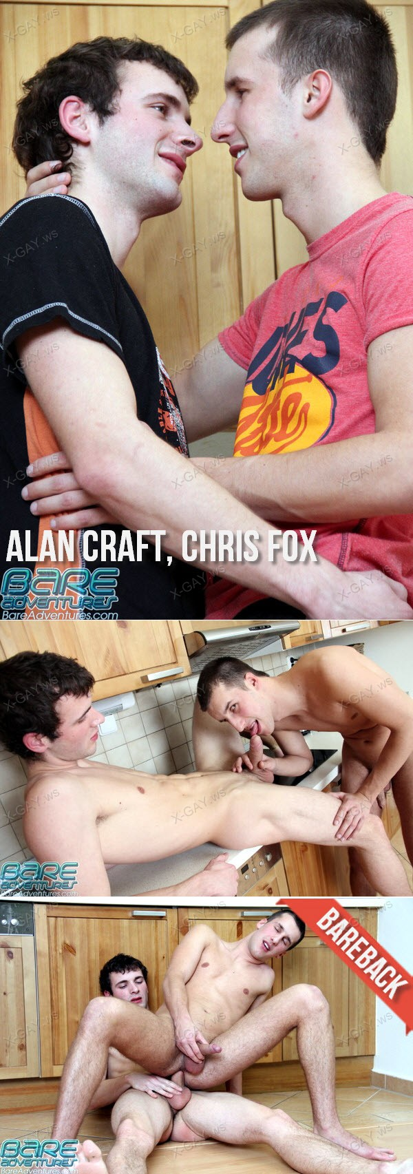 BareAdventures: Alan Craft, Chris Fox (Bareback)