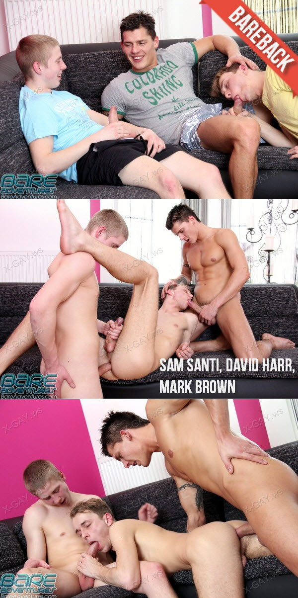 BareAdventures: Sam Santi, David Harr, Mark Brown (Bareback)