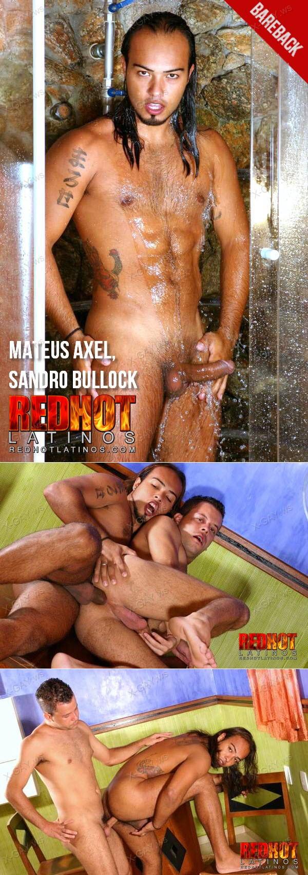 RedhotLatinos: Mateus Axel, Sandro Bullock (Bareback Flip Flop)