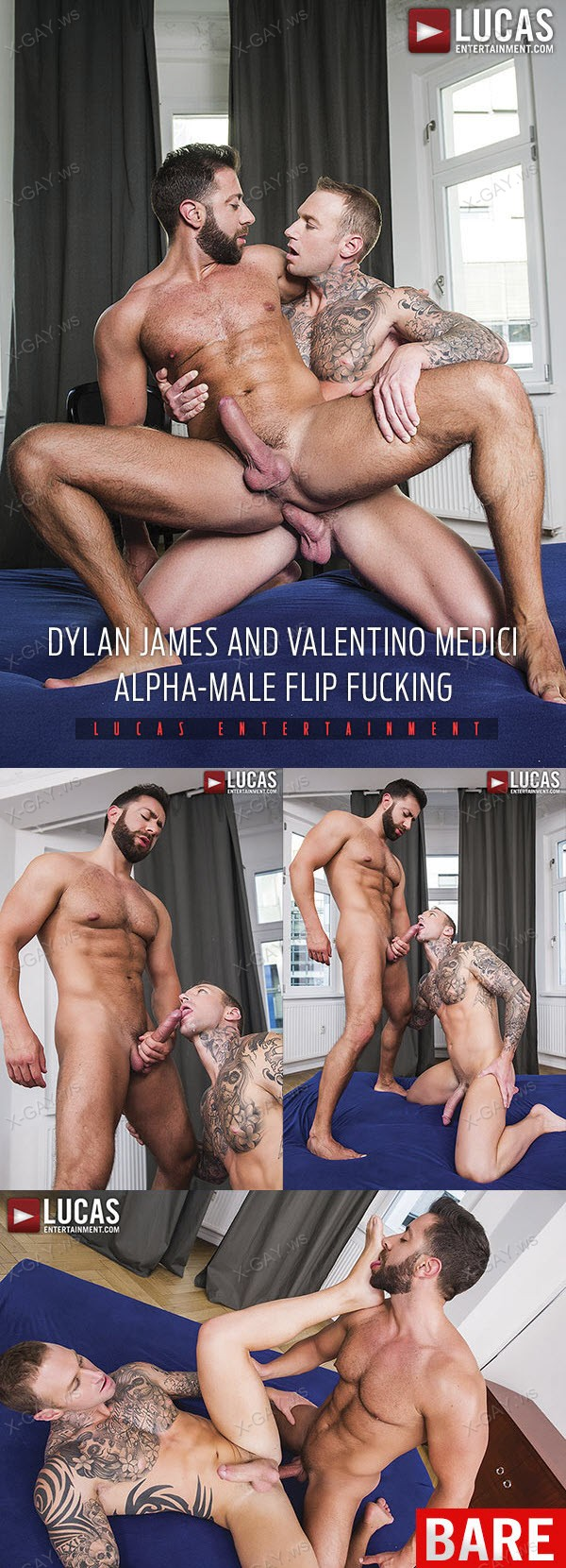 LucasEntertainment: Dylan James, Valentino Medici (Alpha Male Flip Fucking) (RAW DVD)