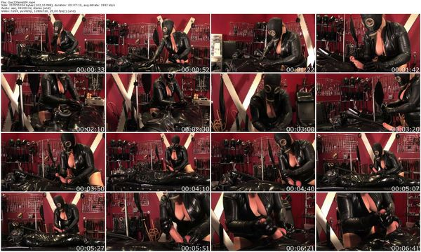 Gas Mask Handjob part 2 update 31.08.2015