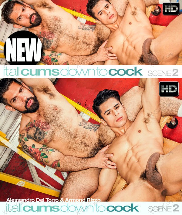 C1R: It All Cums Down To Cock, Scene #02 (Alessandro Del Toro, Armond Rizzo)