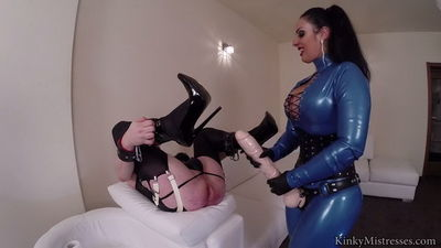 Kinky Mistresses - Mistress Ezada - Your Rubber Strap-on Mistress