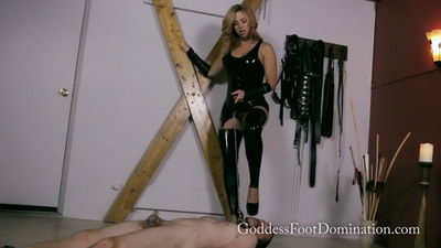 Goddess Foot Domination - Shoe Slave Milked and Cleans Up Goddess Brianna