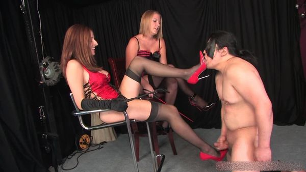 AmberDungeon - Mistress Ashley, Mistress Paris - Split His Hole - Part 3 of 3
