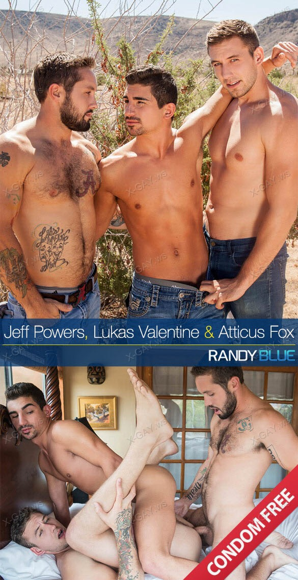 RandyBlue: Atticus Fox Takes Jeff Powers And Lukas Valentines Raw Loads