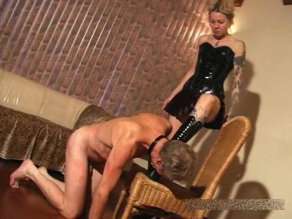 FemdomShed -  Bitchy Mistress - Boot Licking