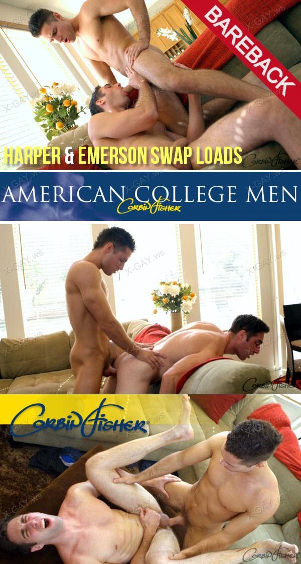 CorbinFisher: Harper, Emerson Swap Loads (Bareback)