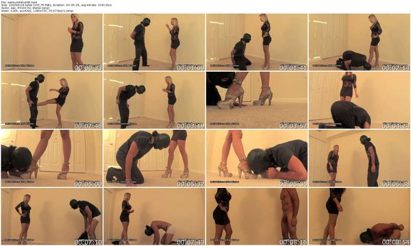 GlamBitches - Gorgeous blonde humiliates and torments a man