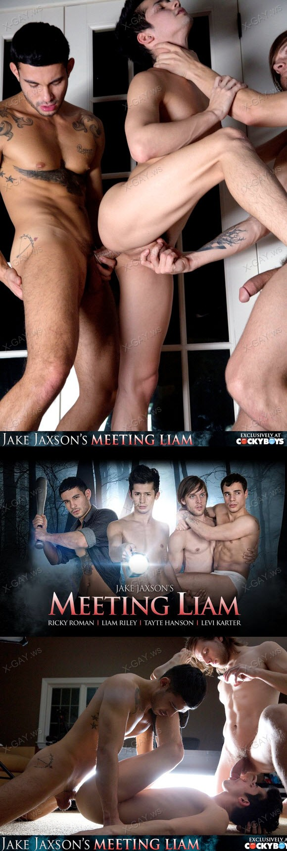 CockyBoys: Meeting Liam, Part 3 (Levi Karter, Liam Riley, Ricky Roman, Tayte Hanson)