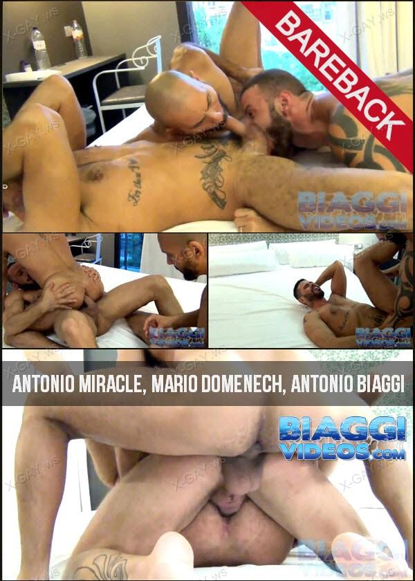 BiaggiVideos: Antonio Miracle, Mario Domenech, Antonio Biaggi (Bareback)