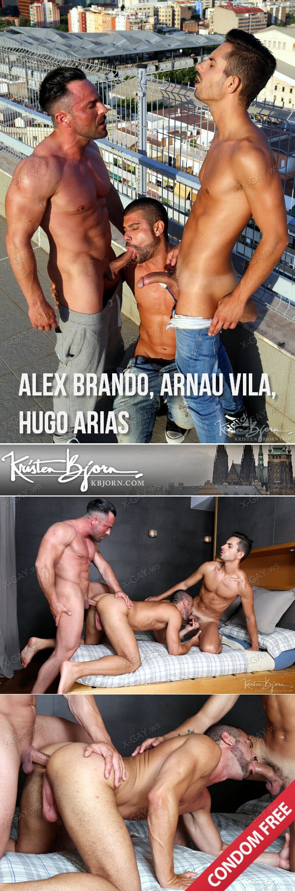 KristenBjorn: In The Flesh, Sc. 3 (Alex Brando, Arnau Vila, Hugo Arias) (Bareback)