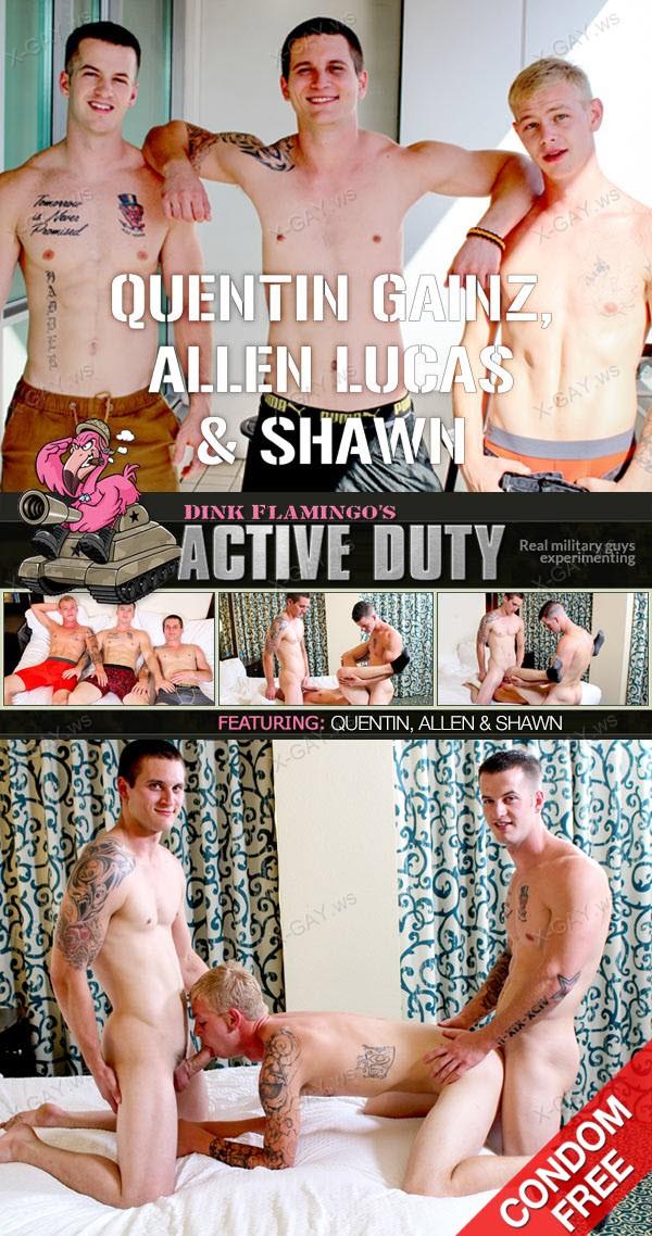 ActiveDuty: Quentin Gainz, Allen Lucas, Shawn (Bareback)