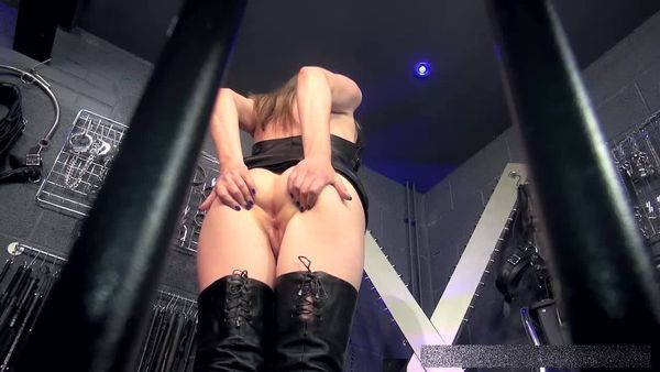 TheEnglishMansion - Mistress Sidonia - Caged Arse Worship part 1