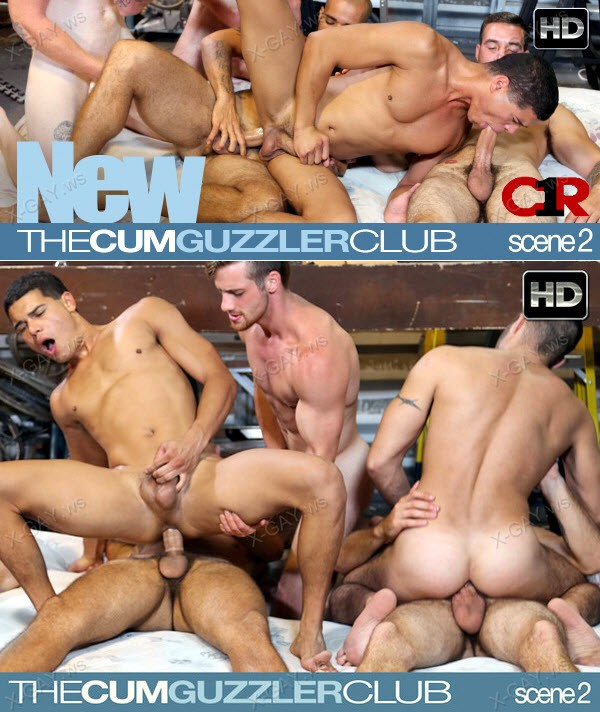 C1R: Cum Guzzler Club, Scene #02 (Initiation Orgy)