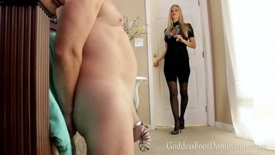 Goddess Foot Domination - Husband's Awaited Release Goddess Alexis Fawx