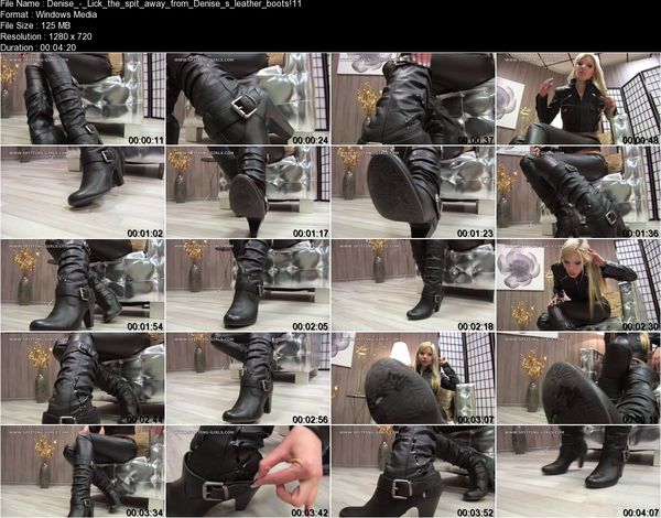 Clips4sale - Denise - Lick the spit away from Denise's leather boots!