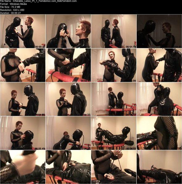 SeriousBondage - Inflatable Rubber CBT Part 1 - Tease and Denial Latex Bondage