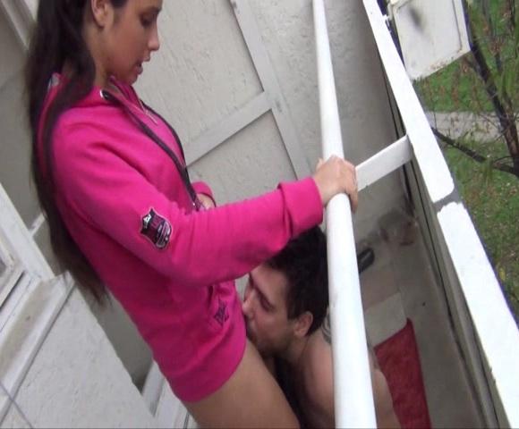 MagyarMistressMira - Mira Cuckold - Public humiliation cuckold training - Public force pussy licking