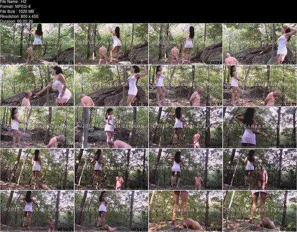 SaharahEve - Saharah Eve - Spanking her Slave Outdoor