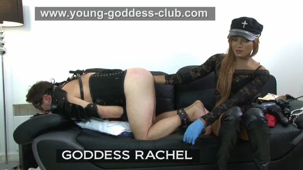 Young-Goddess-Club - GODDESS RACHEL - SLAVE FRANCK - STRAPON GAME WITH MY SLAVE part 1