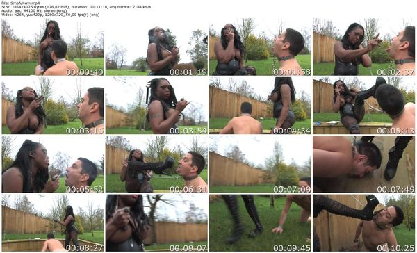 TheEnglishMansion - Mistress TTease - Smokin' Black Domina complete