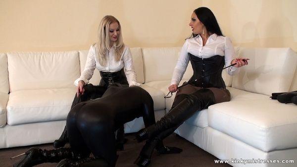 KinkyMistresses - Mistress Ezada Sinn, Mistress Lilse - Our Fetish Slave