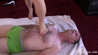 Ella Kross - Using a Slave as My Workout Equipment!