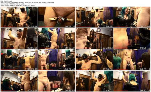 AliceInBondageLand - Amateur Couple FemDom Lessons - Chastity CBT Threesome