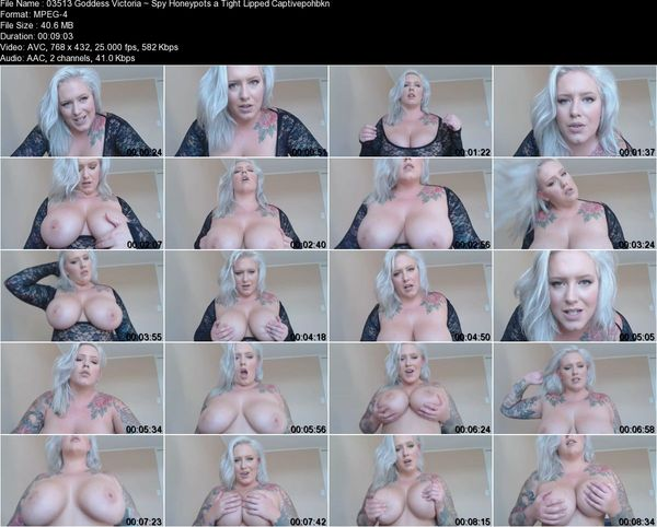 Goddess Victoria - Spy Honeypots a Tight Lipped Captive