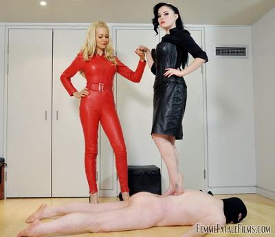 Femme Fatale Films - Mistress Eleise de Lacy, Eleise de Lacy, Mistress Eleise, Mistress Sophia Black, Sophia Black - Barefaced Feet