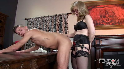 Femdom Empire - Nina Hartley - Strapon Correction