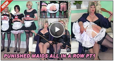 Lady Nina Birch, Madam Helle - Punished Maids All In A Row Pt1