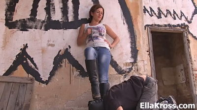 Ella Kross - Clean my Dirty Boots, Slave!