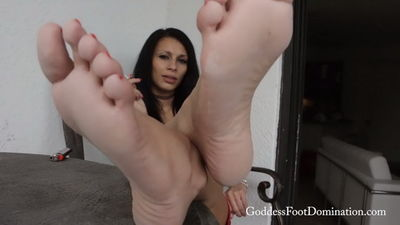 Goddess Foot Domination - Goddess Mercy has Smoking Hot Feet