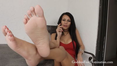 Goddess Foot Domination - Goddess Mercy has Smoking Hot Feet