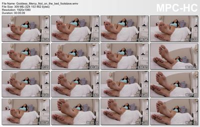 Goddess Foot Domination - Goddess Mercy - Not on the bed, footslave!