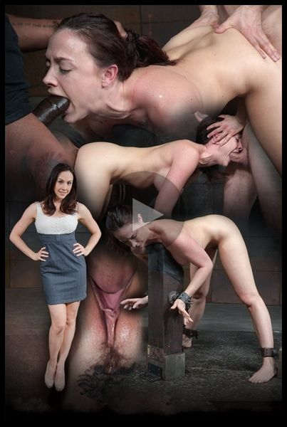 (20.04.2016) Big breasted brunette Chanel Preston shackled down and roughly worked over by two cocks