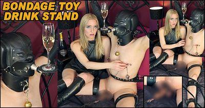 The English Mansion - Mistress Sidonia - Bondage Toy Drink Stand