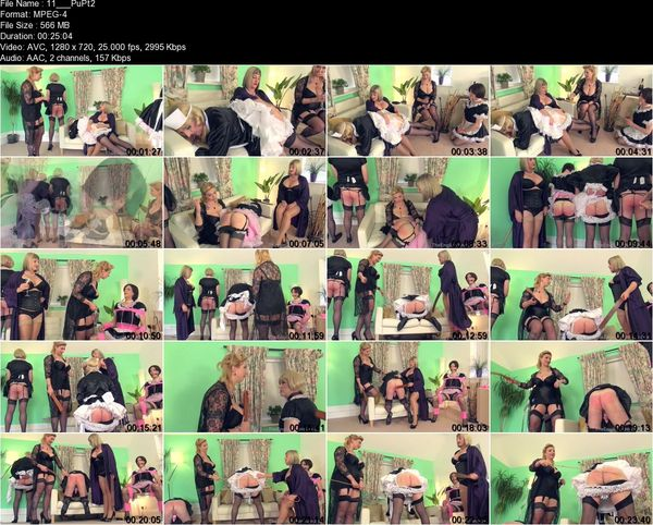 TheEnglishMansion - Lady Nina Birch, Madam Helle - Punished Maids All In A Row Pt2  Complete