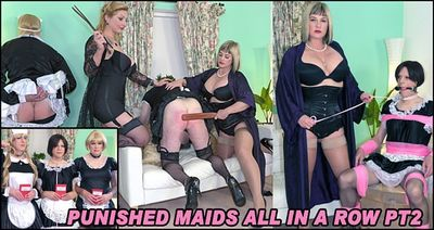 The English Mansion - Lady Nina Birch, Madam Helle - Punished Maids All In A Row Pt2